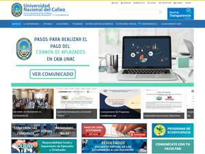 Universidad Nacional del Callao's Website Screenshot