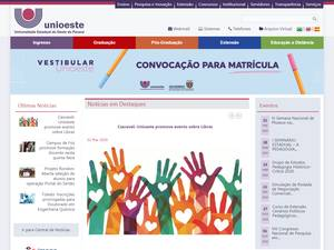 Universidade Estadual do Oeste do Paraná's Website Screenshot
