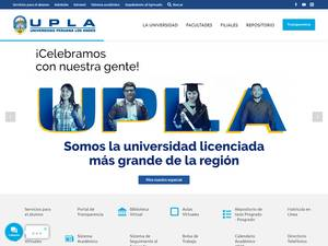 Universidad Peruana Los Andes's Website Screenshot