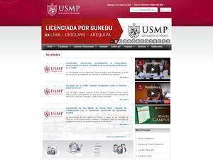Universidad de San Martín de Porres's Website Screenshot