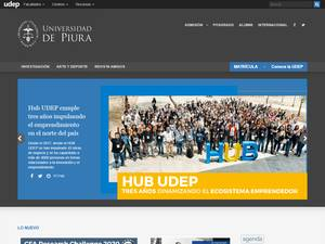 Universidad de Piura Screenshot