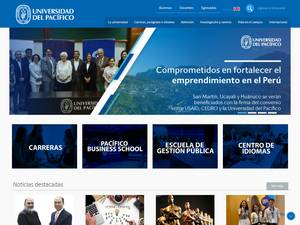 Universidad del Pacifico's Website Screenshot