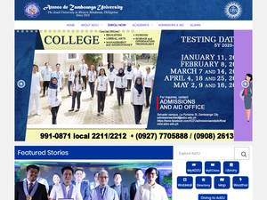 Ateneo de Zamboanga University's Website Screenshot
