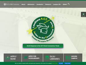 De La Salle University's Website Screenshot