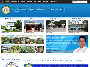 Don Mariano Marcos Memorial State University's Website Screenshot
