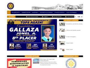 Leyte Normal University's Website Screenshot