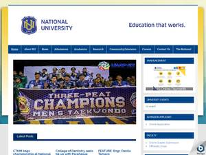 National University, Philippines's Website Screenshot