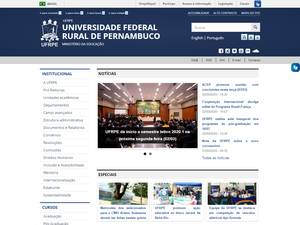Universidade Federal Rural de Pernambuco's Website Screenshot