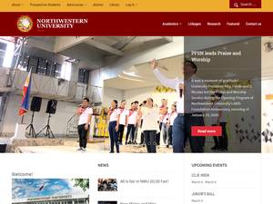 Northwestern University, Philippines's Website Screenshot