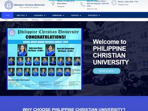 Philippine Christian University's Website Screenshot