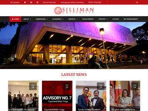 Silliman University's Website Screenshot