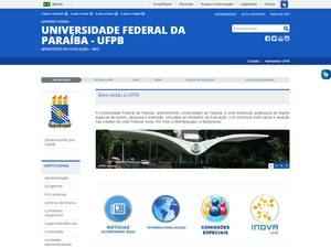 Universidade Federal da Paraíba Screenshot