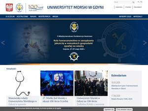 Uniwersytet Morski w Gdyn's Website Screenshot