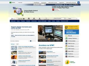 Universidade Federal de Mato Grosso's Website Screenshot