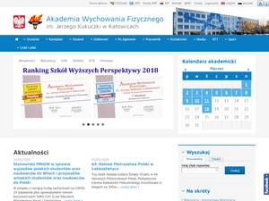 Academy of Physical Education of Katowice Screenshot