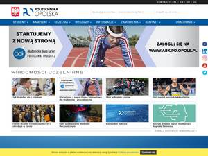 Politechnika Opolska's Website Screenshot