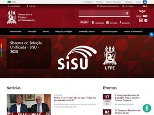 Universidade Federal de Pernambuco's Website Screenshot