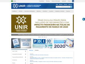Universidade Federal de Rondônia's Website Screenshot