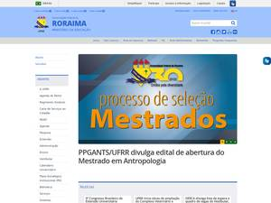 Universidade Federal de Roraima's Website Screenshot