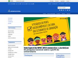Universidade Federal de Santa Catarina's Website Screenshot