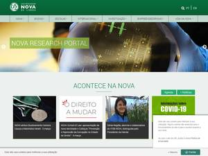 Universidade Nova de Lisboa's Website Screenshot