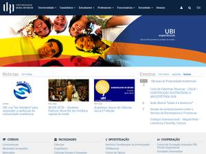 Universidade da Beira Interior's Website Screenshot