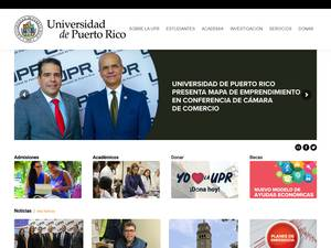 Universidad de Puerto Rico's Website Screenshot