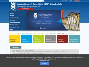 Universitatea 1 Decembrie 1918 din Alba Iulia's Website Screenshot