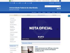 Universidade Federal de Uberlândia's Website Screenshot