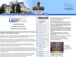 Universitatea Petru Maior din Târgu-Mures's Website Screenshot