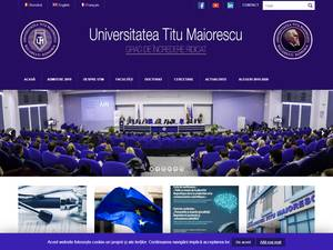 Universitatea Titu Maiorescu's Website Screenshot