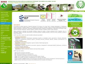Universitatea de Stiinte Agricole si Medicina Veterinara din Iasi's Website Screenshot