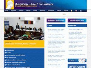 Universitatea Ovidius Constanta's Website Screenshot