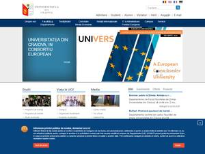 Universitatea din Craiova's Website Screenshot