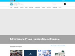 Universitatea Alexandru Ioan Cuza's Website Screenshot