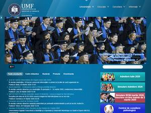 Universitatea de Medicina si Farmacie Iuliu Hatieganu's Website Screenshot