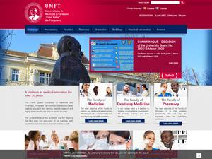 Universitatea de Medicina si Farmacie Victor Babes din Timisoara's Website Screenshot