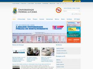 Universidade Federal do Ceará's Website Screenshot