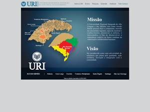 Universidade Regional Integrada do Alto Uruguai e das Missões's Website Screenshot