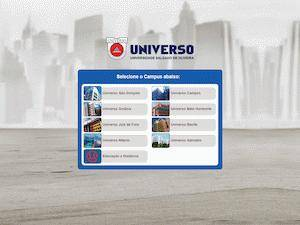 Salgado de Oliveira University's Website Screenshot