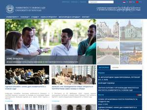Univerzitet u Novom Sadu's Website Screenshot