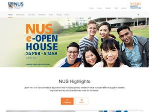 National University of Singapore's Website Screenshot
