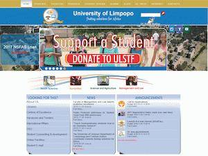 University of Limpopo's Website Screenshot
