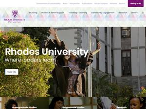 Rhodes University's Website Screenshot