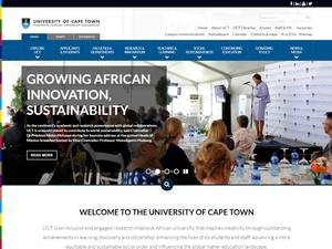 University of Cape Town's Website Screenshot