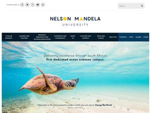 Nelson Mandela University's Website Screenshot