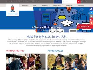 University of Pretoria's Website Screenshot