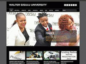 Walter Sisulu University Screenshot