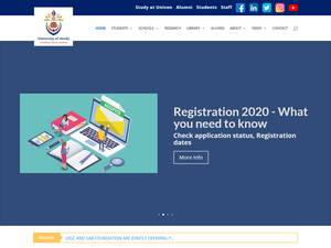 University of Venda's Website Screenshot