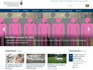 University of the Witwatersrand's Website Screenshot